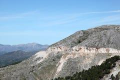 Route de montagne en Espagne image libre de droits