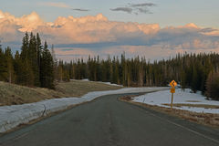 Route de montagne haute Images stock