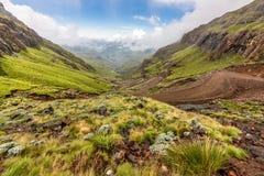 Route de montagne de passage de Sani photographie stock libre de droits