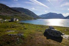 Route de montagne de trollstigen de Geiranger en Norvège du sud Photo libre de droits