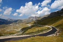 route de montagnes Photos stock