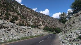 Route de montagnes de Chilas Images stock