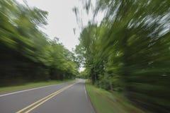 Route de montagnes de porc-épic Image libre de droits