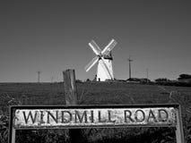 Route de moulin à vent Photo stock
