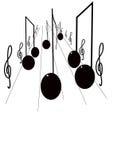 Route de musique Images libres de droits