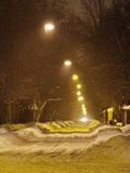 Route de neige Photographie stock libre de droits