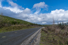 Route de notation sur la montagne images libres de droits