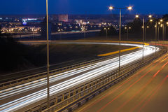 Route de nuit Image stock