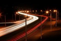 Route de nuit Image libre de droits