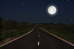 Route de nuit Photo stock