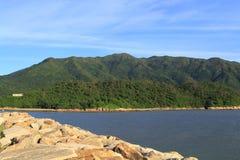 Route de périmètre de S, Chek Lap Kok images stock