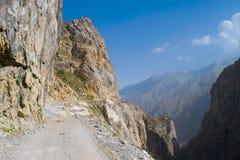 Route de Pamir dans le Tadjikistan image stock