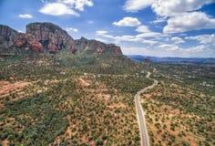 Route de passage de Boynton dans Sedona, Arizona, Etats-Unis Photographie stock
