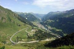 Route de passage de Gotthard, Tessin, Suisse Photos libres de droits