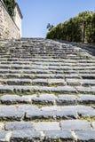Route de pavé rond de Sighisoara images libres de droits