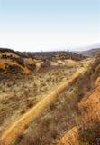 Route de plateau de loess de Shanxi images stock