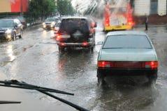 route de pluie image stock