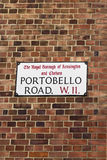 Route de Portobello Photo libre de droits