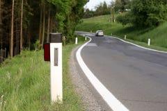 route de poteau de guide de pays Images libres de droits