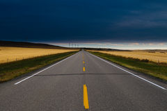 Route de prairie Photos libres de droits