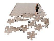 Route de puzzle Photos stock