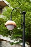 Route de rue de lampadaire de courrier de lampe Photographie stock