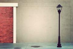 Route de rue de lampadaire de poteau de lampe Image stock