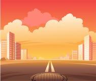 route de rue de ville Image stock
