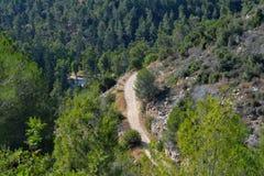 route de sable sur la montagne Images libres de droits