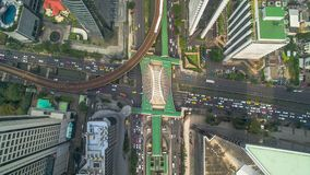 Route de Sathon de vue aérienne de station de nonsi de Chong de Bangkok Photographie stock libre de droits