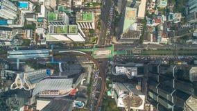 Route de Sathon de vue aérienne de station de nonsi de Chong de Bangkok Photographie stock