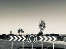Route de signalisation Image stock