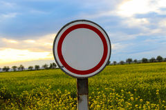 Route de signe Images libres de droits