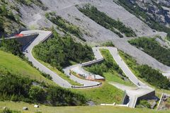 Route de Stelvio Pass photo libre de droits
