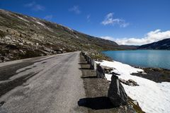 Route de Strynefjellet en Norvège Photo libre de droits