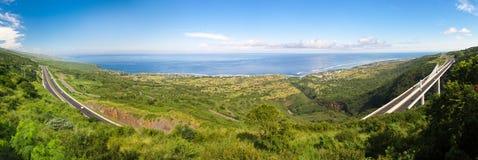 Route de Tamarins de DES d'artère - Reunion Island Image stock