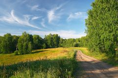 Route de terre Image stock