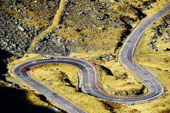 Route de Transfagarasan dans les Alpes de Transylvanian Photo libre de droits