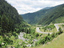 Route de Transfagarasan, Roumanie Images stock