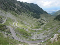 Route de Transfagarasan, Roumanie Photo libre de droits