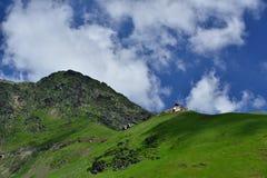 Route de Transfagarasan sur la montagne de Fagaras, Roumanie photos stock