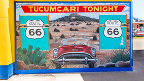 Route 66 : De Tucumcari peinture murale ce soir, nanomètre images libres de droits