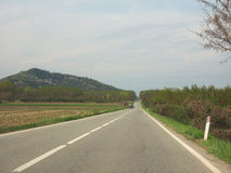 Route de Valcerrina dans Chivasso Image stock