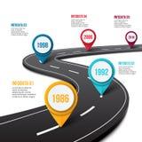 Route de vecteur infographic avec l'indicateur de goupille Photographie stock libre de droits