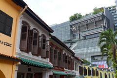 Route de verger à Singapour image stock