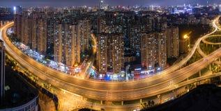 Route de viaduc d'anneau de Wuhan 2rd Photo stock
