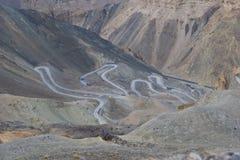 Route de zigzag Image libre de droits