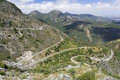 Route de zigzag Image stock