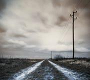 Route de zone après tempête Photo libre de droits