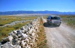 Route de zone avec le véhicule Photographie stock